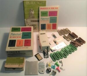 Vintage Singer Buttonholer amp; Assorted Sewing Machine Attachment amp; 1972 Book Lot $9.00