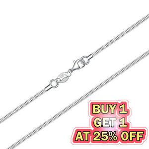 925 Sterling Silver Snake Chain Necklace w Lobster Lock Mens Womens 16 24inch $3.69