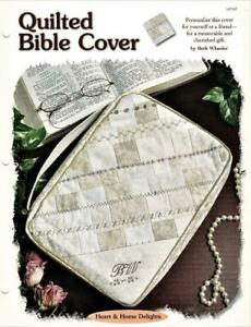 Quilted Bible Cover Creative Scrap Pieced Quilted Sewing Pattern Leaflet $5.95