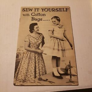 VTG 1953 Sewing with COTTON BAGS feed sacks Simplicity Pattern CATALOG Booklet $19.00