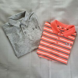 Bundle Of TWO Under Armour Polo shirts Boys size Med FAST FREE SHIPPING $24.99