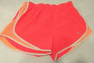 Womens Nike DRI FIT Shorts M Medium Athletic Running Pink Orange EUC $12.95