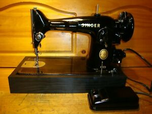 1955 SINGER SEWING MACHINE MODEL 201 2 SERVICED $300.00