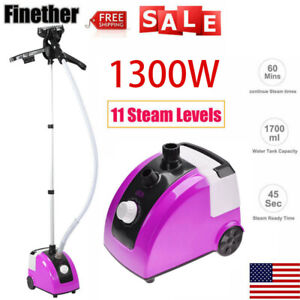 Heavy Duty Stand Garment Steamer Clothes Fabric Steamer 11 Steam Levels 1300W US