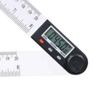 0 200mm Multifunctional Digit LCD Display Angle Ruler 360° Electronic Goniometer C $17.98