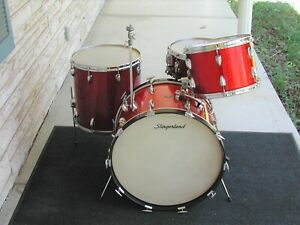 1964 Slingerland Red Sparkle drum set. VG. $1699.99