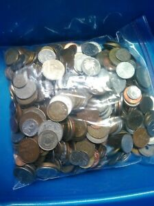 Bulk Lots World Coins 5 pound bags 1920s to around 2000 $45.00