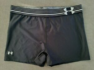 Under Armour Shorts Womens Size XL 3 Inch Compression Fit Training Black $13.85