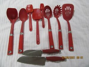 5 RACHAEL RAY UTENSILS 5 OTHER UTENSILS ALL RED GREAT CONDITION