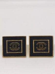 RARE COLLECTOR Chanel CC Logo Large Clip On Earrings $1050.00