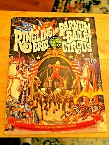 Vintage Ringling Brothers Barnum Bailey Circus Program Bicentennial Ed. 1975 $12.95