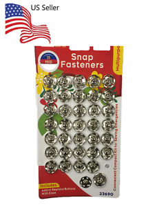 35PCS Snap Fasteners Metal Concealed Press Buttons For Sewing Accessories $2.99