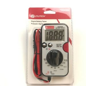 Utilitech Digital Battery Tester With Test Leads no battery required $13.25