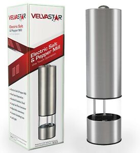 Electric Pepper Grinder or Salt Grinder – Battery Operated Automatic Spice Grin