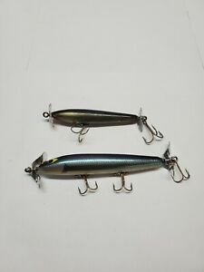 2 Vintage Smithwick Devils Horse Wood Double Propeller Fishing Lures