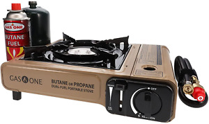 Portable Camping Stove Propane Butane Dual Fuel Backpacking Burner Carrying Case