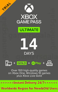 Xbox Live Gold 14 Day Game Pass 14 Days Xbox Game Pass Ultimate 14 Days Code $2.00