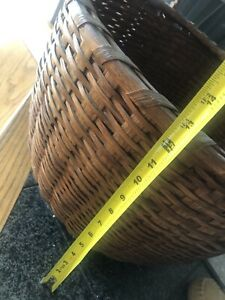 """Large antique basket from """"Greater Light"""" Nantucket MA $400.00"""