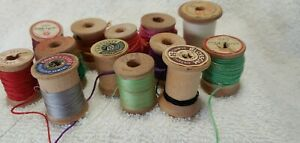 Wooden Vintage Sewing Spools Wooden Crochet Hook and Needles $8.95