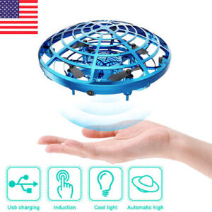 UFO Mini Drone Hand Operated Levitation LED RC Helicopter Flying Toys Kids Gift