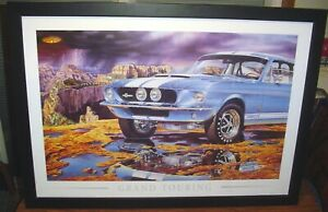 """1967 SHELBY GT500 """"GRAND TOURING� POSTER BY MICHAEL IRVINE 39� X 27� $199.99"""