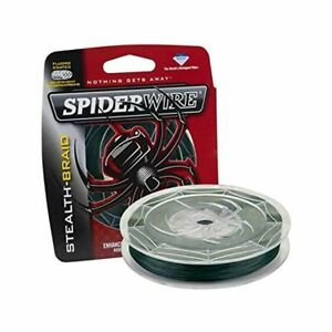 SPIDERWIRE STEALTH Moss Green Braided Fishing Line CHOOSE LB and YDS