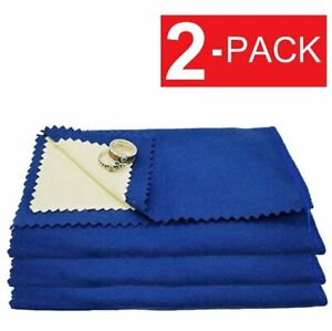 2 Pack Jewelry Cleaning Polishing Cloth Instant Shine Protects Gold Silver Brass $4.79