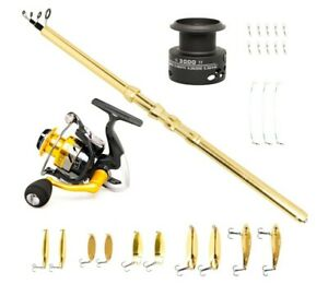Spinning Rod and Reel Combos Fishing Poles and Reels Combo Telescopic Beginner