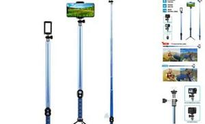 Long Selfie Stick Extendable Foldable Selfie Stick with Wireless Holder 3 meter $50.41