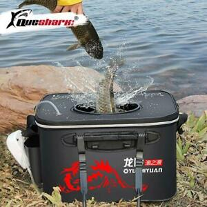 Large Foldable Fishing Bucket Insulated Thicken Fishing Box Live Fish Cooler Bag