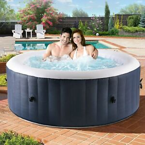 Portable Inflatable Hot Tub Spa Jacuzzi Cover Home Holiday Family w Pump amp; Cover