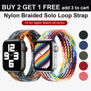 Nylon Braided Solo Loop for Apple Watch Strap Band iWatch Series 7 6 SE 5 4 3 21 $6.88