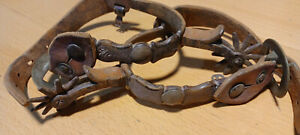 Vintage Western Cowboy Horse Spurs w Engraved Overlay 4 Part of Collection