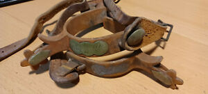 Vintage Western Cowboy Horse Tack Spurs w Overlay 5 Part of Collection