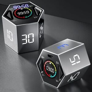Digital Timer LED Kitchen Study Stopwatch Magnetic Electronic Countdown