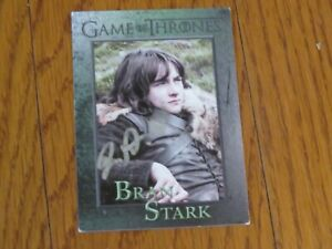 Isaac Hempstead Wright Autographed Hand Signed Card Game of Thrones Bran Stark $9.99