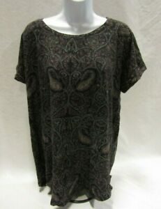 Women#x27;s 1X Multi Colored Lucky Brand Top