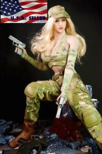 1 6 Women Combat Soldier Clothing Set Camouflage For Hot Toys PHICEN Figure USA