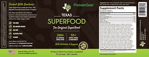 Texas Superfood With Enzymes amp; Probiotics 180 Capsules