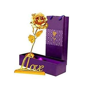 Girlfriend Gifts 24K Foil Rose Flower with Love BaseGifts for HerMomon Gold