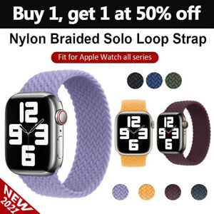 Nylon Braided Solo Loop For iWatch Apple Watch Band Series 7 6 SE 5 4 3 2 1 $7.56