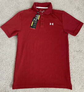 $55 NWT Under Armour Golf Polo Shirt Performance Loose Men's Size Small Red $29.99