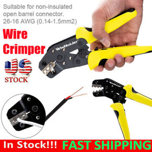 PRO Wire Crimper Plier Insulated Cable Connectors Terminal Ratchet Crimping Tool $14.49