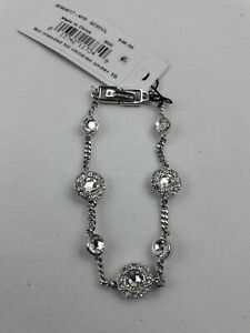 Givenchy Designer Signed Bracelet Tennis Style With Crystals MSRP 48.00 NWT 7 $18.00