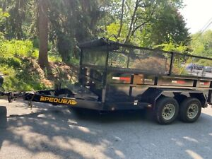 pequea dump trailer C 2500 10k lb capacity like new only used for one job