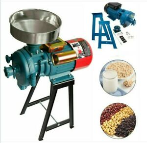 3000W Efficient Dry Wet Electric Grain Grinder Mill Corn Spices Feed W Funnel