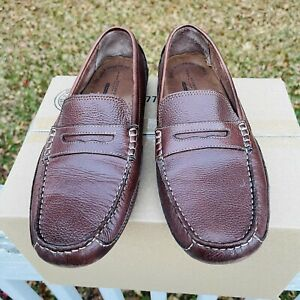 Rockport Mens Penny Loafers 12M Brown Oaklawn Park Driving Shoes M76502 $29.75