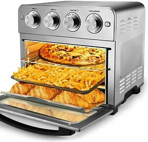 Geek Chef Air Fryer Toaster Oven 24QT 6Slice Convection Airfryer Countertop Oven