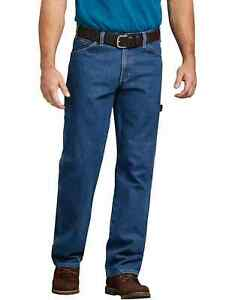 New Dickies Carpenter Work Stone Wash Blue Relaxed Fit Jeans Men#x27;s Size 30x36 $28.50