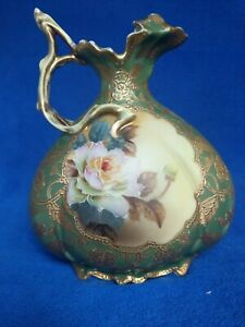 Nippon Ewer Gold moriage and roses RARE item very hard to find